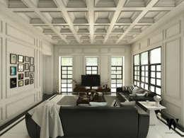 Ping House - Living Area:  Ruang Keluarga by w.interiorstudio