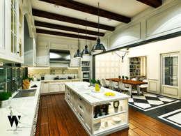 Ping House:  Dapur by w.interiorstudio