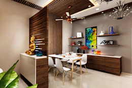 Foyer and dining area: modern Dining room by The inside stories - by Minal