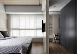 穿透空間:  臥室 by 思維空間設計