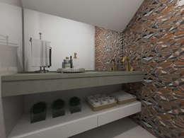 Lavabo: Banheiros modernos por Juliana Lobo Arquitetura & Interiores