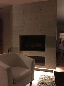 chimenea: Salas de estilo minimalista por Arq. Beatriz Gómez G.