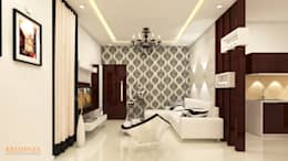SHRI SAI SRUSHTI INTERIORS: classic Living room by Kredenza Interior Studios