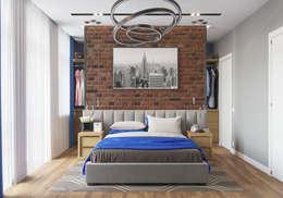 Дизайн-проект таунхауса в КП Кембридж, 120 кв. м.: Спальни в . Автор – Loft&Home