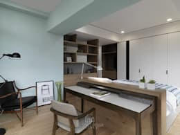 國泰森林苑唐公館:  臥室 by Ho.space design 和薪室內裝修設計有限公司