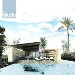 CASA GUASACATE: Casas de campo de estilo  por Fstudio Arquitectura