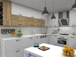 DİZAYNer®   Mutfak – ARTUR EVİ MUTFAK PROJESİ:  tarz Ankastre mutfaklar