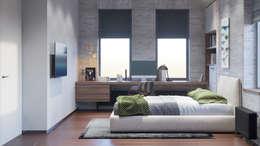 Dormitorios de niños de estilo  por Архитектурная студия Чадо