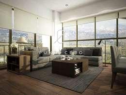 رہنے کا کمرہ  by Punto Cero