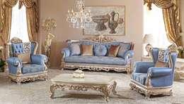 classic Living room تنفيذ LUXURY FURNITURE