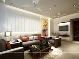 Residence at Dwarka: modern Living room by Design Essentials
