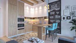 Дизайн-проект в Парк Авеню, 62 кв.м.: Кухни в . Автор – Loft&Home