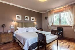 Projekty,  Sypialnia zaprojektowane przez CCVO Design and Staging