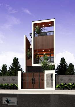 L house:  Nhà gỗ by AE STUDIO DESIGN