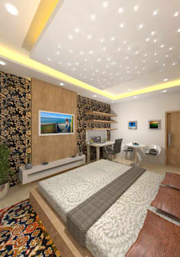 : modern Bedroom by Gurooji Design