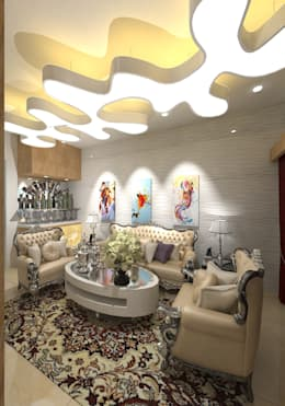 : modern Living room by Gurooji Design