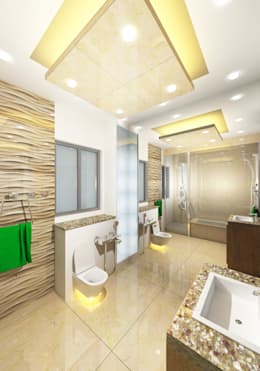 : modern Bathroom by Gurooji Design