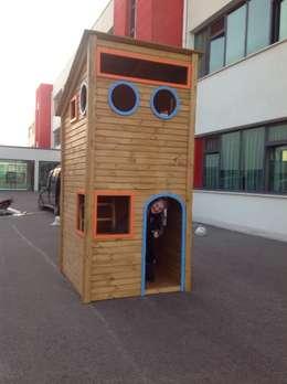 Bersa İç ve Dış Ticaret Ltd. Şti. – Ahşap İki Katlı Oyun Evi:  tarz Okullar