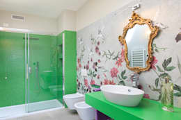 Moderna Villa in Bioedilizia: Bagno in stile in stile Moderno di Stefano Pedroni