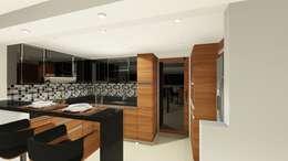 DISEÑO - MOBILIARIO COCINA : Cocina de estilo  por DIKTURE Arquitectura + Diseño Interior