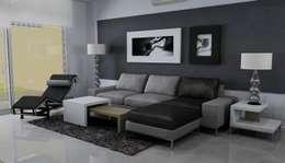 Proyecto de diseño interior de living comedor:  de estilo  por Fernan Etcheverry Diseño Interior