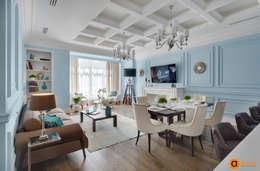 Дизайн гостиной в стиле неоклассика: Гостиная в . Автор – Art-i-Chok