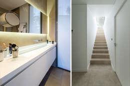 Ванные комнаты в . Автор – Brengues Le Pavec architectes