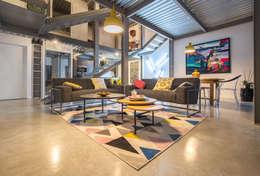 Projekty,  Salon zaprojektowane przez Brengues Le Pavec architectes