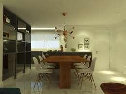 APT NR - BLUMENAU SC: Salas de jantar modernas por Arching - Arquitetos Associados