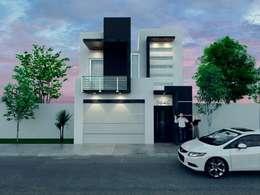 render: Casas de estilo minimalista por ORO ARQUITECTURA