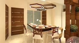 DINING VIEW: modern Dining room by MAD DESIGN