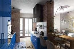 Квартира студия: Кухни в . Автор – Diveev_studio#ZI