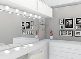 Closets modernos por Trivisio Consultoria e Projetos em 3D