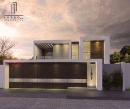 FACHADA: Casas unifamiliares de estilo  por lassoarq