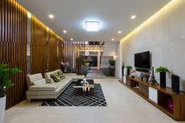Ruang Keluarga by Cty TNHH MTV Kiến trúc, Xây dựng Phạm Phú & Cộng sự - P+P Architects