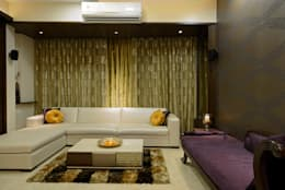 Matunga Apartment: modern Living room by Fourth Axis Designs