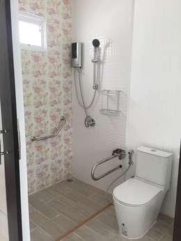 Ванные комнаты в . Автор – P Knockdown Style Modern