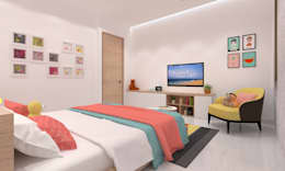 Daughter's Bedroom: minimalistic Bedroom by Ravi Prakash/Architect