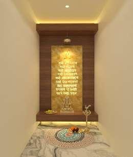 Puja Room:  Corridor & hallway by Ravi Prakash/Architect