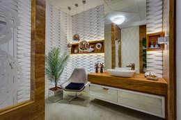 Lavabo: Banheiros modernos por Guaraúna Revestimentos