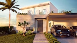Casas de estilo moderno por 11m Arquitetura