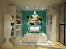 Recámara: Recámaras de estilo moderno por Zono Interieur