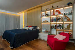 modern Nursery/kid's room by Danielle Valente Arquitetura e Interiores