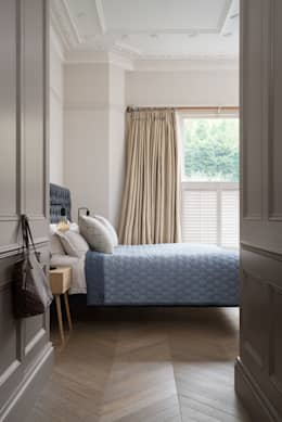 Swedish Elegance - Residential redecoration: modern Bedroom by SWM Interiors & Sourcing Ltd