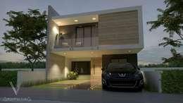 Fachada : Condominios de estilo  por V Arquitectura