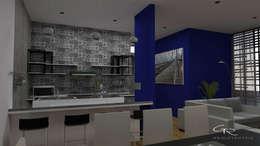 HOUSE SA-D TULA: Muebles de cocinas de estilo  por GT-R Arquitectos