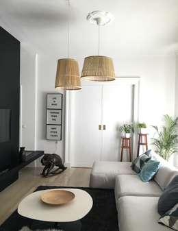 minimalistic Living room تنفيذ Home Lifting