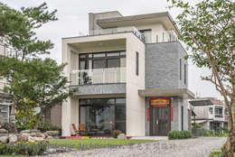建築物外觀及庭院:  別墅 by Hi+Design/Interior.Architecture. 寰邑空間設計