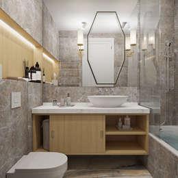 eclectic Bathroom by Студия дизайна интерьера Натальи Патрушевой