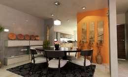 Phòng ăn by OLLIN ARQUITECTURA